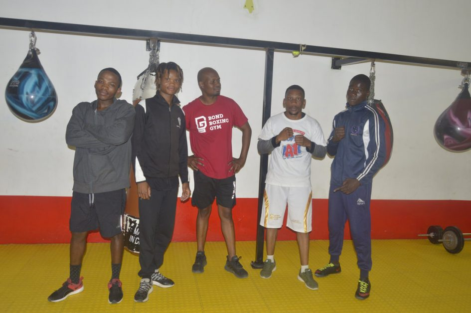 Bond Boxing Team at the gym.