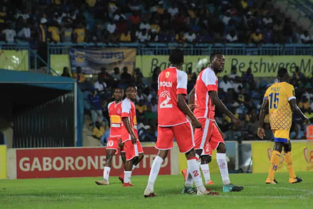Gaborone United and Township Rollers.The game ended 10-9 on penalties after a 3 all draw from 3 and half hours of football in Mascom Top 8 semifinal in Gaborone.